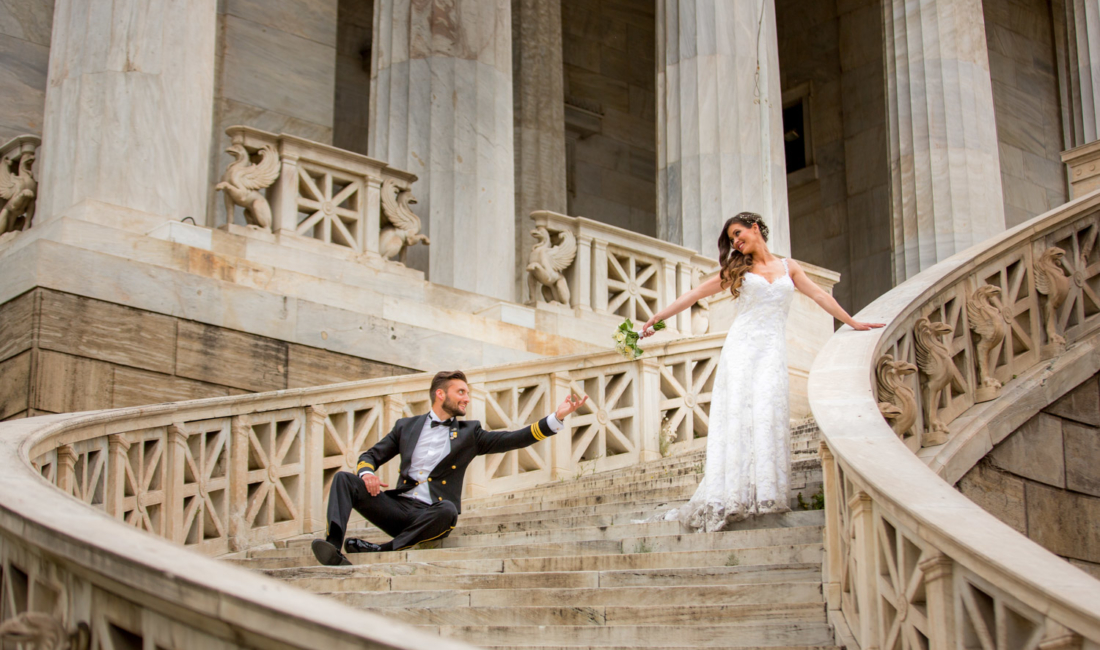 Wedding couple in Athens