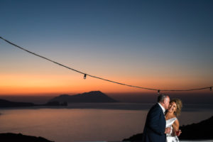Wedding in the sunset of Milos!