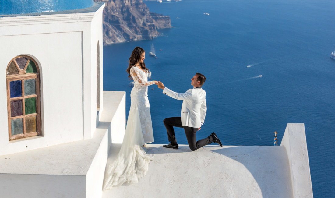 Couple in Santorini