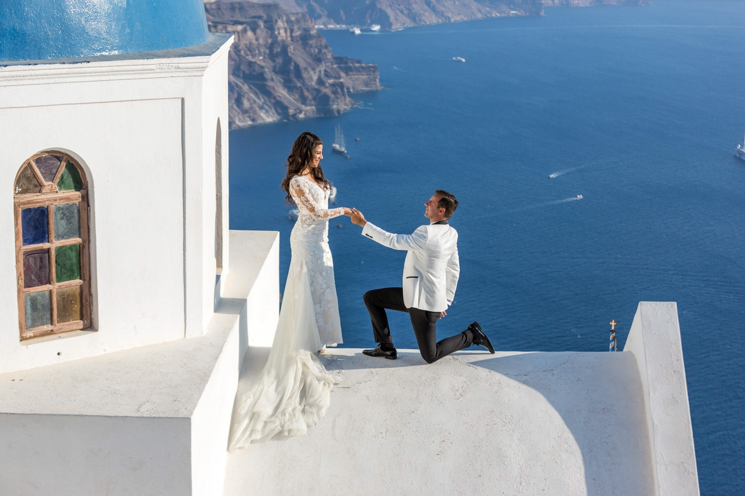 Next day in Santorini – Paschalia & Andreas
